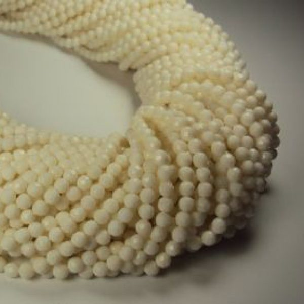 Stränge Bambuskorallen weiß in 3mm-0