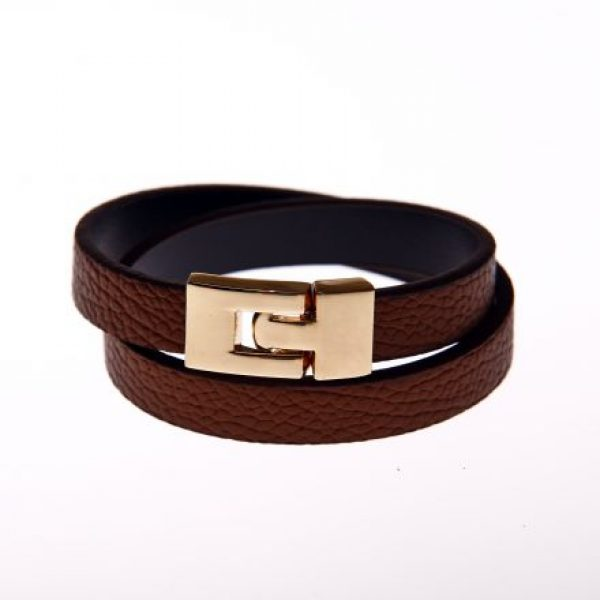 Leder Armband brauen-0