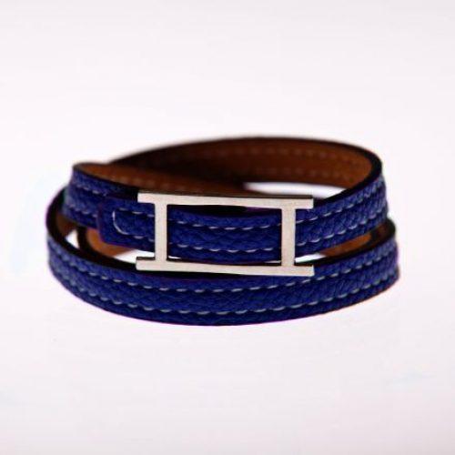 Leder Armband blau-0