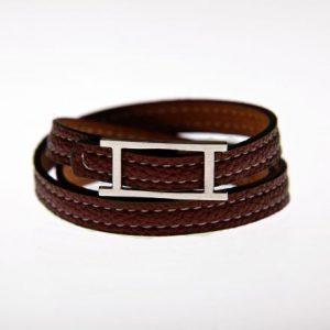 Leder Armband braun-0