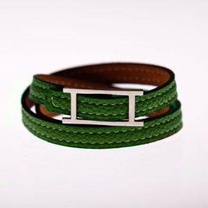 Leder Armband grün-0