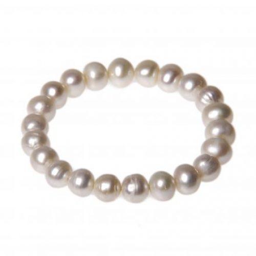 Süsswasser Perlen Armband 9-10mm weiß-0