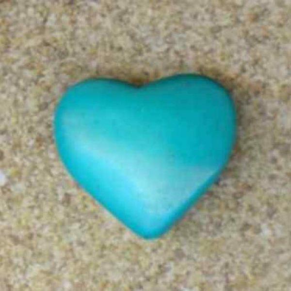 Magnesit Herz blau-0