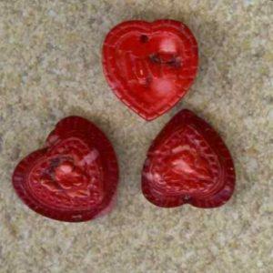 Korallen Herz rot-0