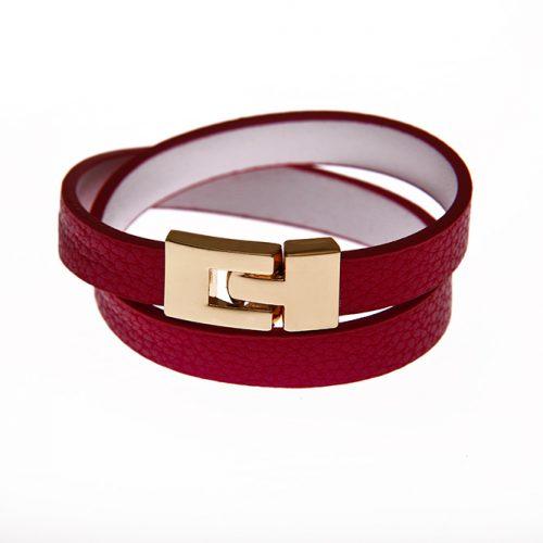 Leder Armband in pink-0