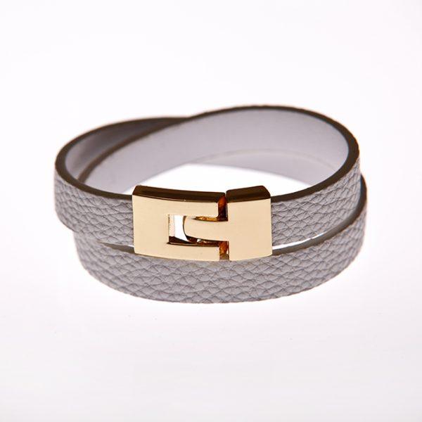 Leder Armband weiß-0