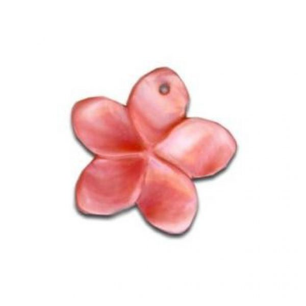 Perlmutt Blumen in rot-0