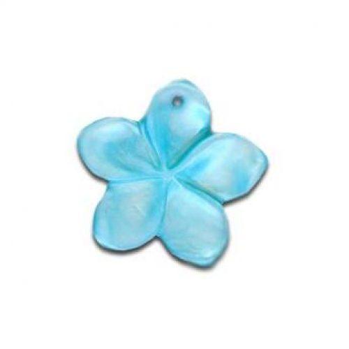 Perlmutt Blumen hell blau-0