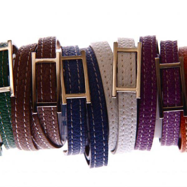 Leder Armband 3 Fach -0