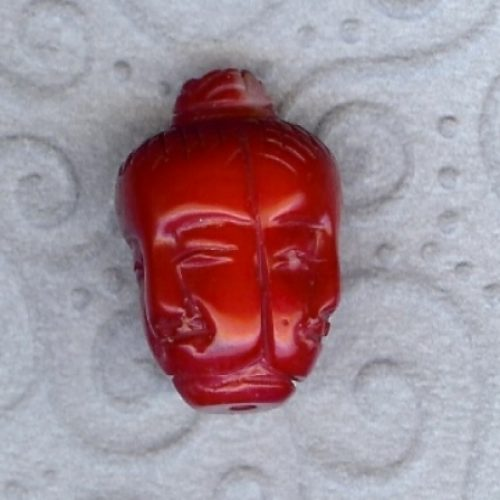Buddha Kopf, Bambuskorallen rot-0