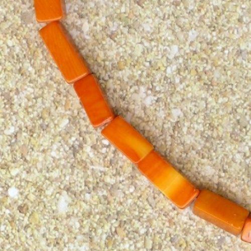 Bambuskorallen rechtekig Strang in 6x10mm-0