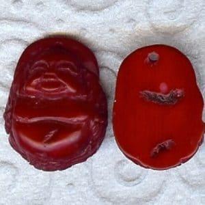 Buddha Kopf. Bambuskorallen rot-0