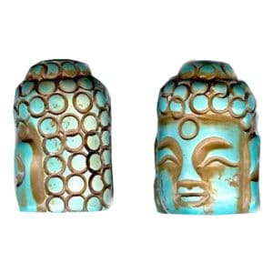 Magnesit Buddhakopf antik türkis-0