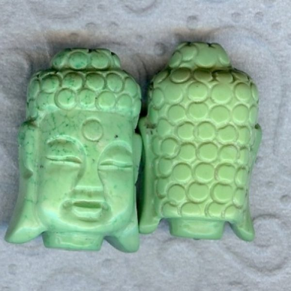 Magensit Buddha kopf hell grün-0