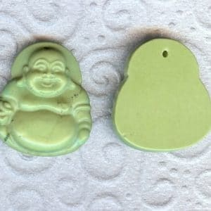 Magnesit Buddha Anhänger hell grün-0