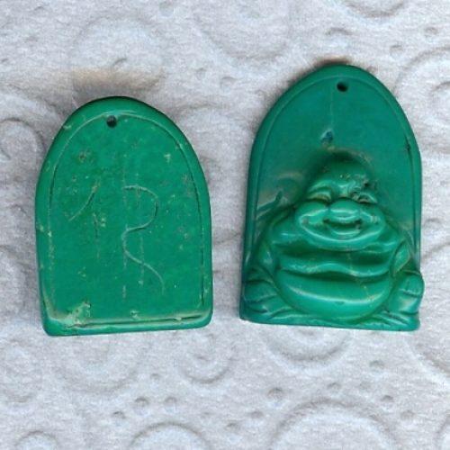 Magnesit Buddha Anhänger dunekl grün-0