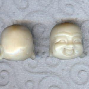 Bambuskorallen Buddhakopf in weiß-0