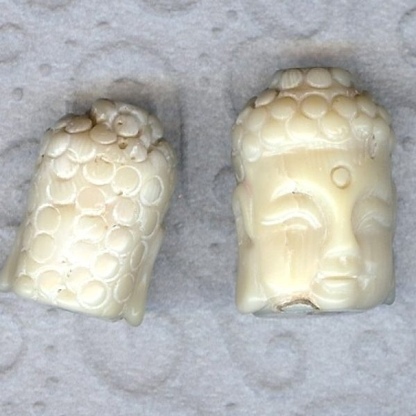 Bambuskorallen Buddha Anhänger in weiß-0