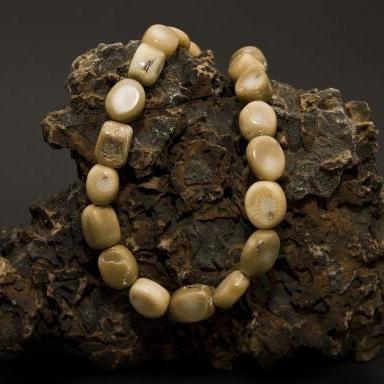 Bambuskorallen Strang beige-0