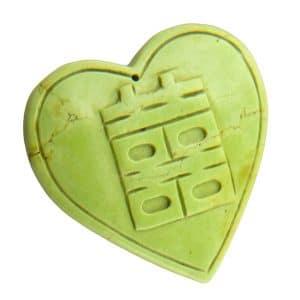 Herz Anhänger grün-0