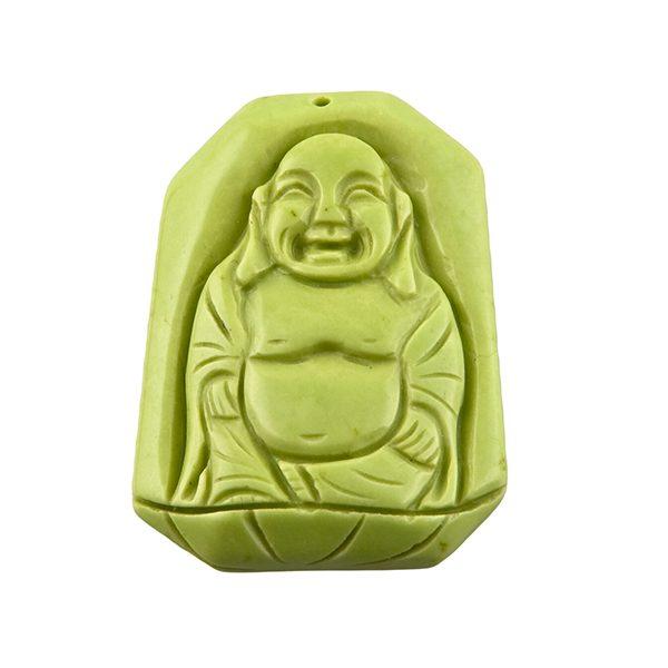 Magnesit Buddha Anhänger grün-0