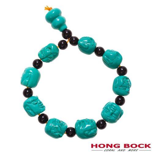 Hong Bock Buddha Hauwlit-Türkis Armband in blau-schwarz-0