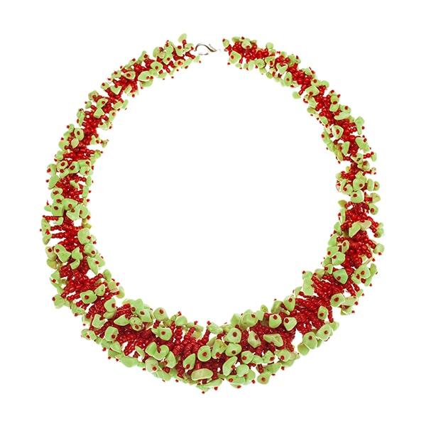 HONG BOCK-Design - Fancy Design-Korallenkette in rot-grün-1771