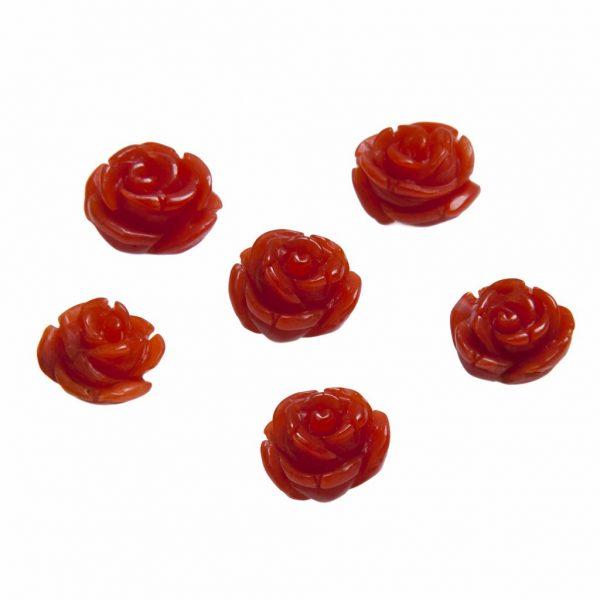 Naturkorallen Rosen rot in 12mm-0