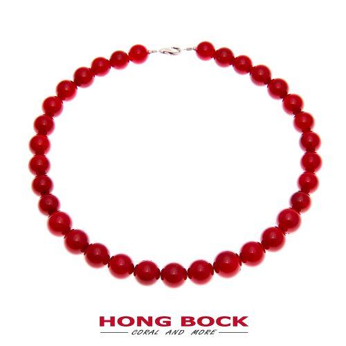 Bambuskorallen Halskette rot in 8mm-0