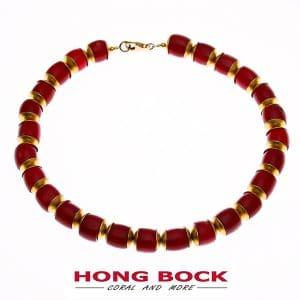 HONG BOCK-Bambuskorallen Halskette rot-0