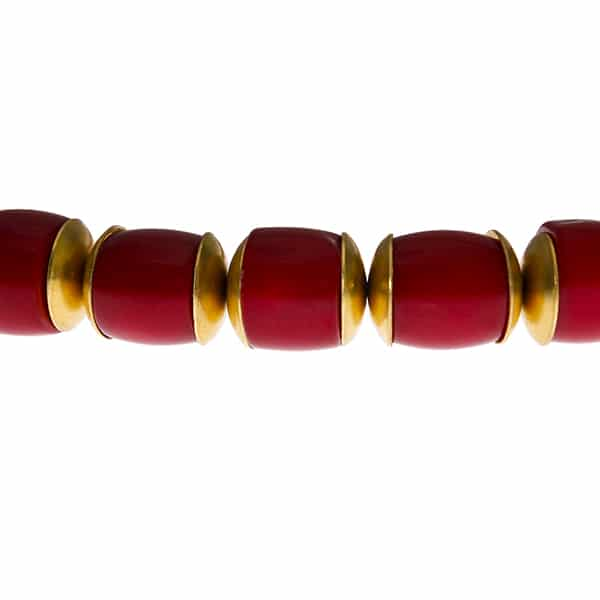 HONG BOCK-Bambuskorallen Halskette rot-465