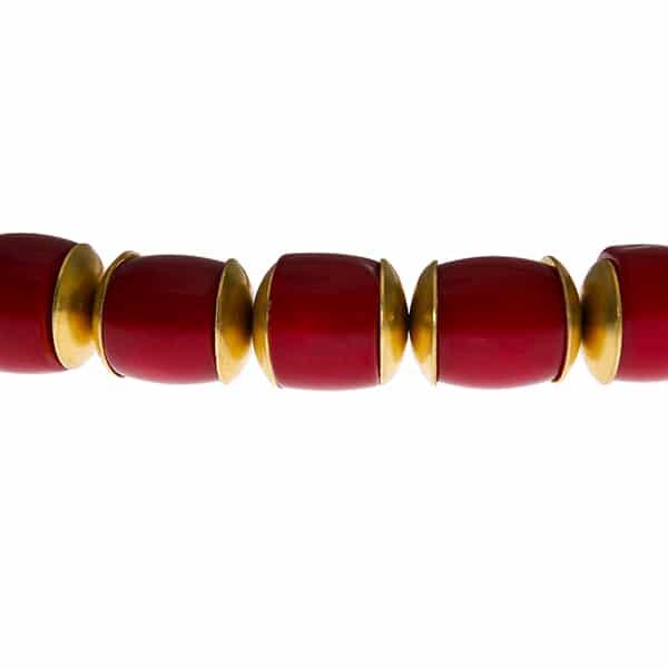 Bumbuskorallen Armband rot.-467