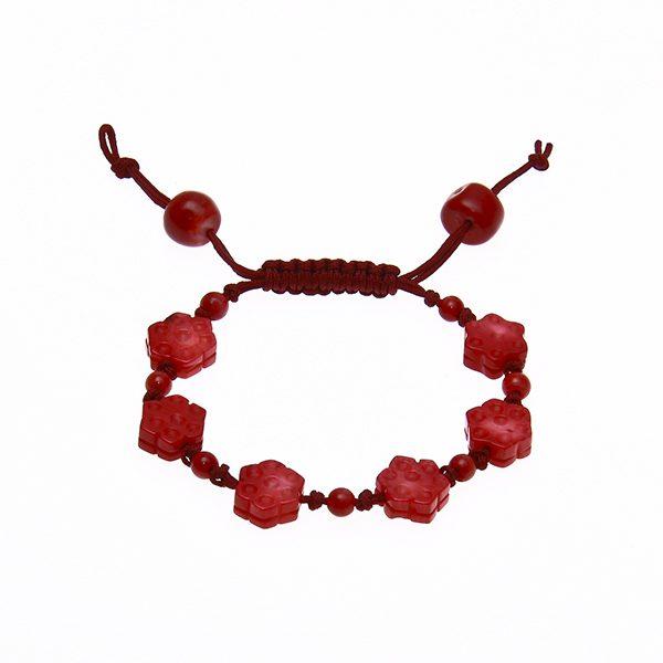 HONG BOCK-Bumbuskorallen Blumen Armband rot-0