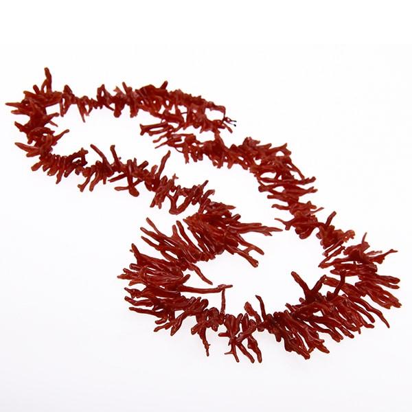 HONG BOCK-Design - Korallenkette aus Naturkorallen-Ästen in rot-485
