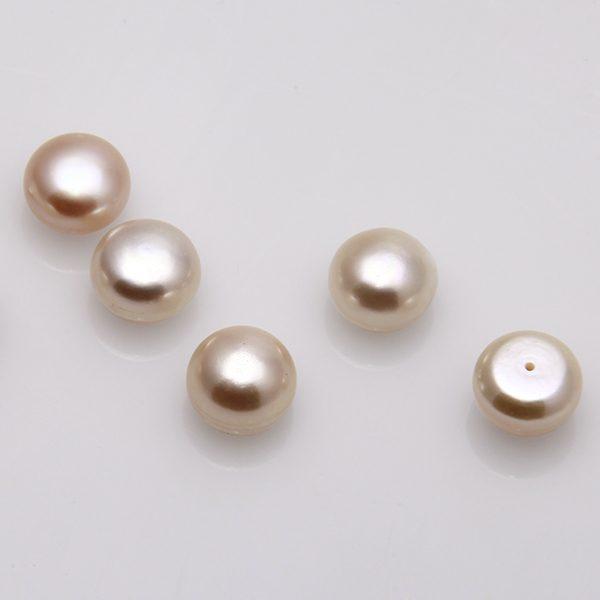 Süsswasser Perlen lose rose, Perlen Größe 9 - 9,5 mm-0