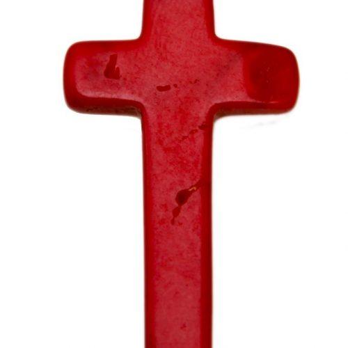 HONG BOCK-Korallen Kreuz rot-0
