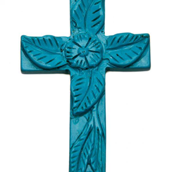 HONG BOCK-Kreuz Anhänger blau-0