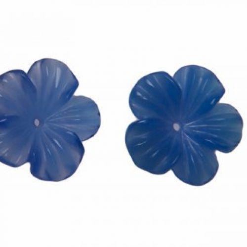 Blauachat Blüte 12mm in blau-0