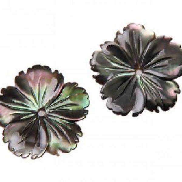 Perlmuttblüte dunkelgrau-0