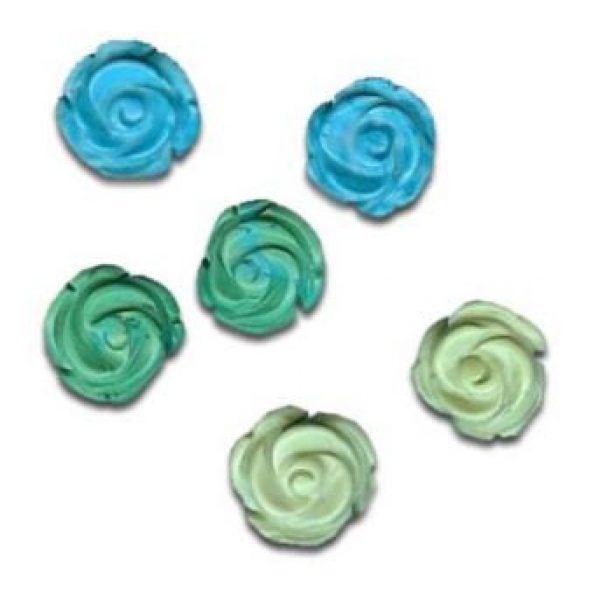Magnesit Rosen in grün und blau-0