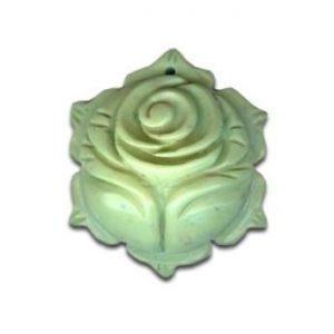 Magnesit Blumenanhänger hell grün-0