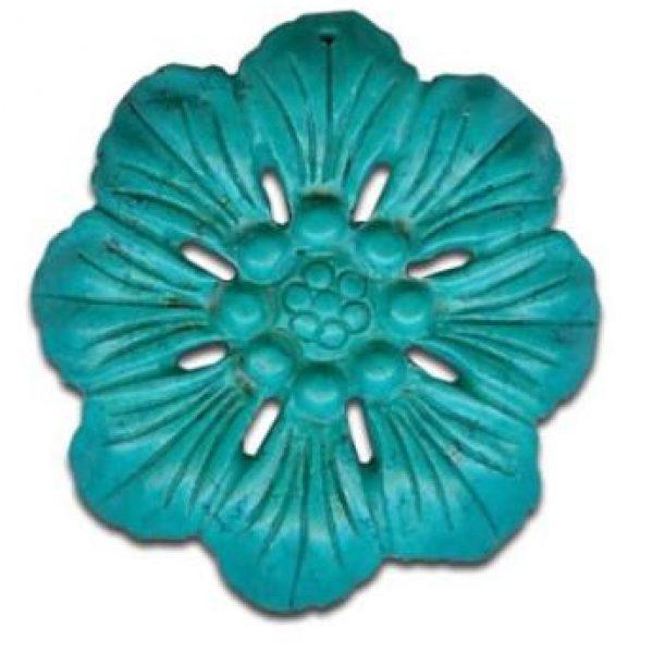 Magnesit Blumenanhänger grün-0