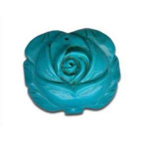 Magnesit Blumenanhänger hell blau-0