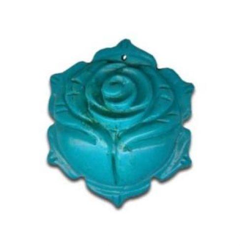 Magnesit Blumenanhänger türksifarb-0
