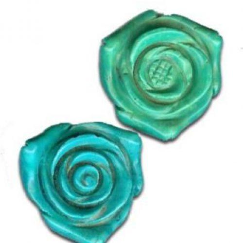Magnesit Blumenanhänger hell blau-grün-0