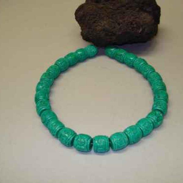 Magnesit Strang dunkel grün-0