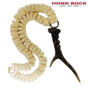 HONG BOCK-Design Kette aus Muschel und Horn in weiß und brauen.-0