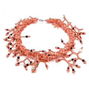 HONG BOCK-Korallen Kette pink-0