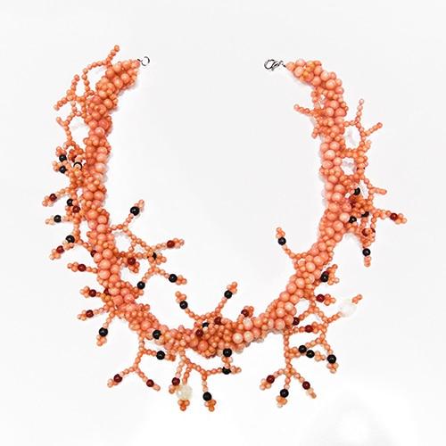 HONG BOCK-Korallen Kette pink-1351