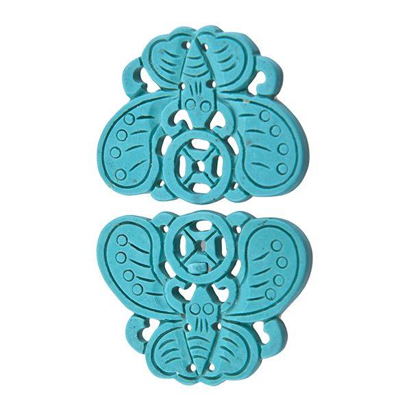 Schmetterling Anhänger türkis blau-0